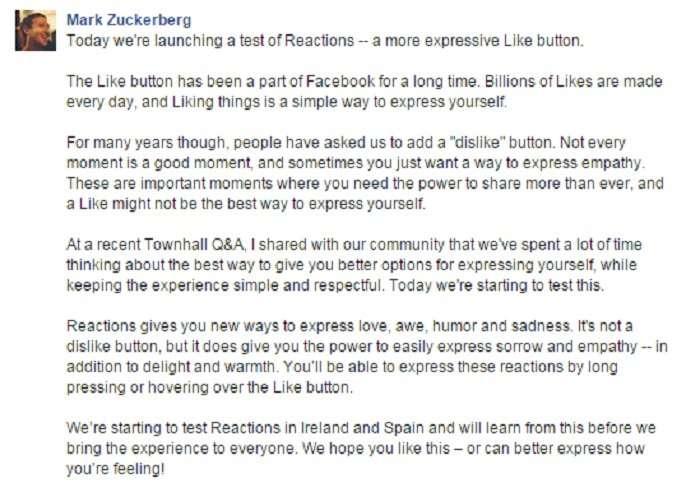 dislike mark zuckerberg